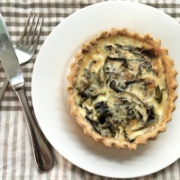 Little Swiss Chard and Stilton Tarts