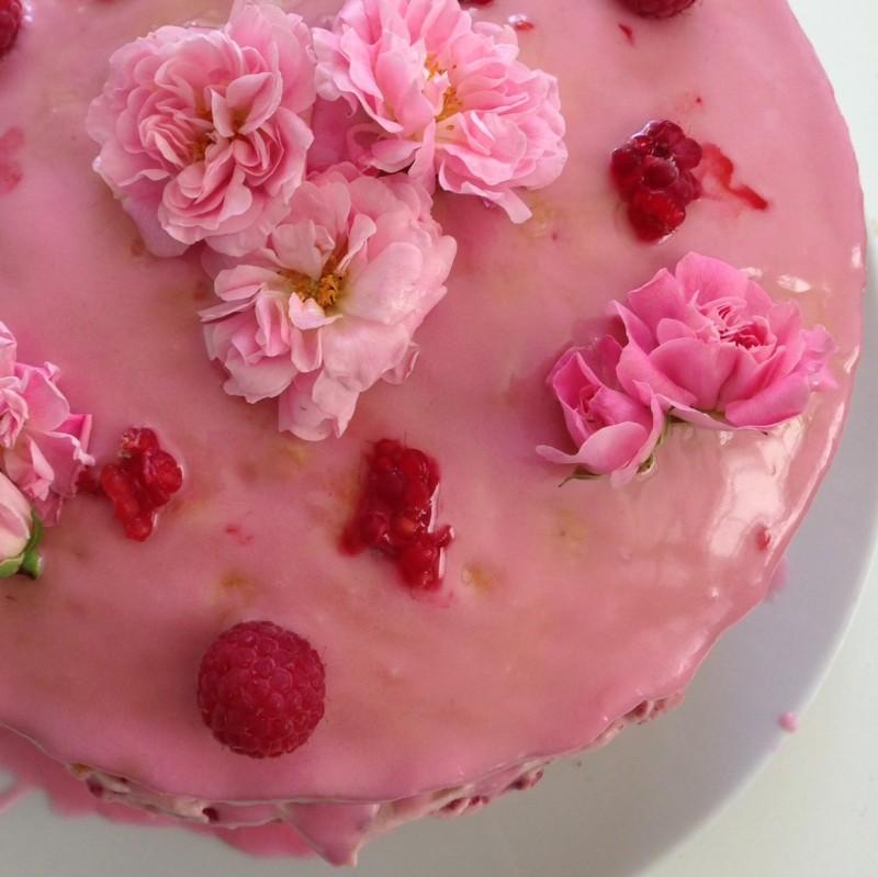 raspberry rosewater cake