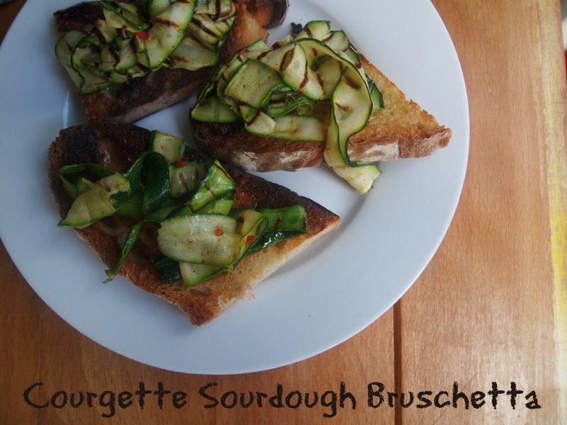 courgette sourdough bruschetta