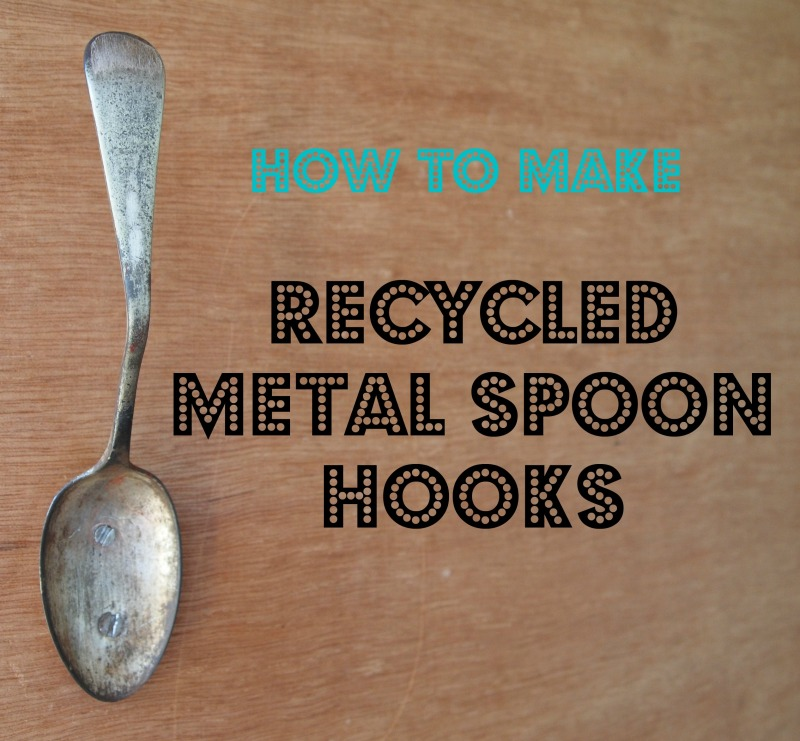 how to make recycled metal spoon hooks