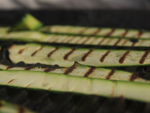 griddled courgettes