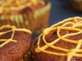 Pumpkin cup cake web design