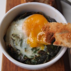 baked eggs toast